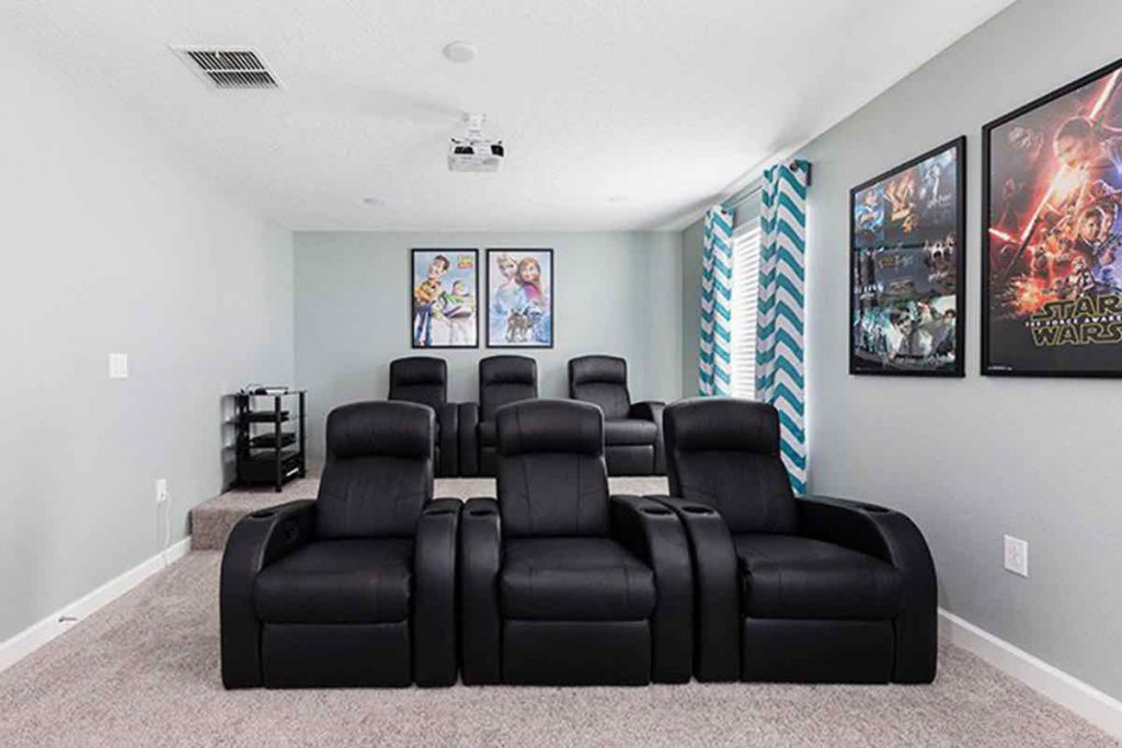 Mics Mansion 8 Bedrooms Vacation Home Theater 2