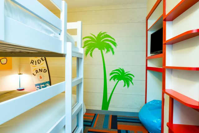 Bunk beds for extra fun in the 2 bedroom king suite!