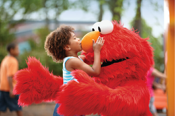 Meet Sesame Street characters in person at Sea World. Photo courtesy Sesame Place.