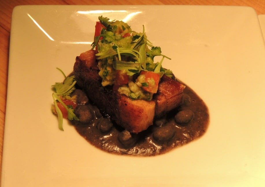 Crispy pork belly new this year at Food and Wine Festival