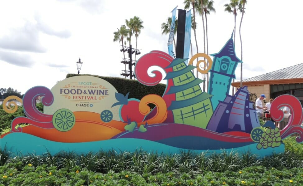 Food and Wine festival at Disney World is largest event at EPCOT.