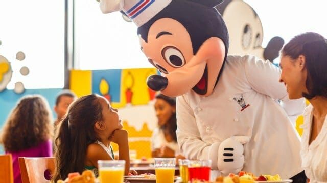disney world character meals