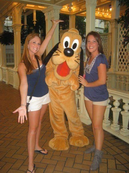 Taking a friend to Disney World is fun