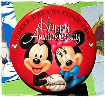 disney world happy anniversary button