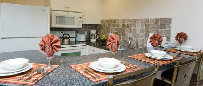 equipped kitchen orlando vacation home