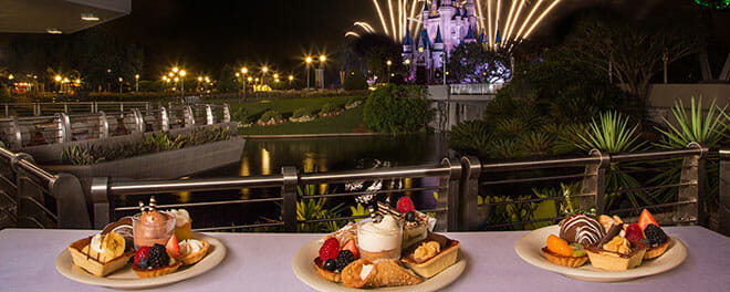 couples fireworks dessert party disney world