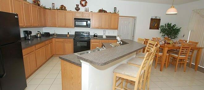 kitchen in orlando vacation home