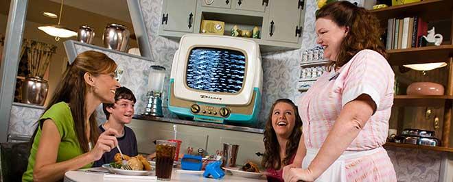 family dining 50's prime time cafe disney