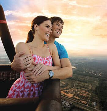 orlando balloon ride couple