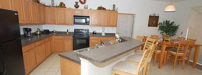 orlando home rental kitchen