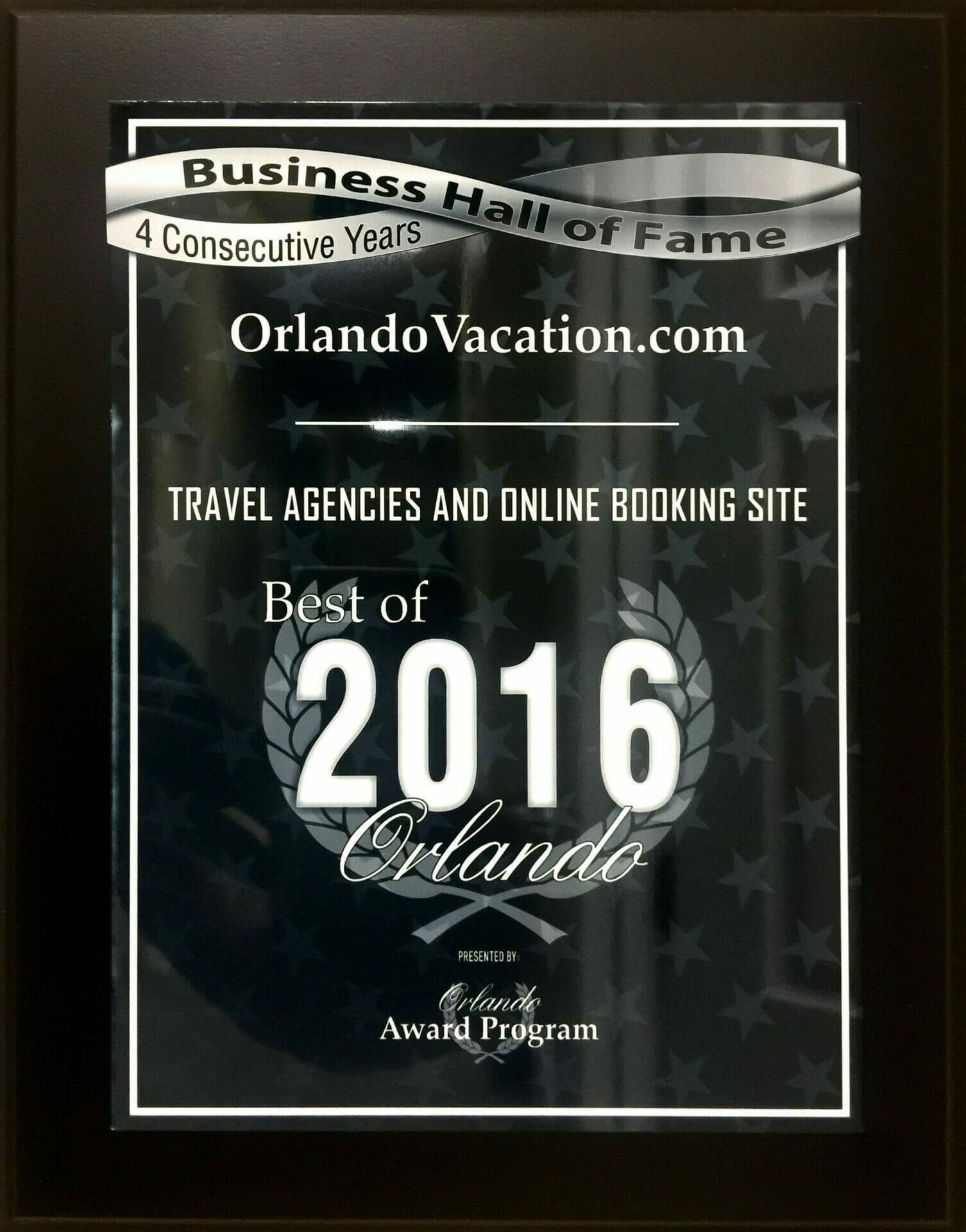 Orlando Vacation Award 2016