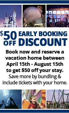 Save 50 dollars when you reserve a vacation home today