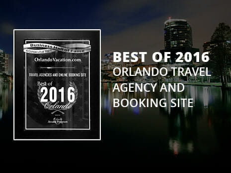 2016 Best Travel and Booking Agency of Orlando