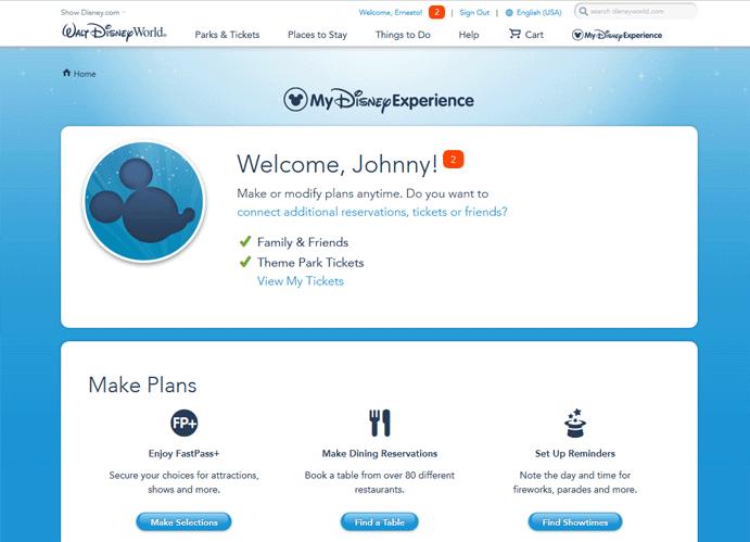 Walt Disney World Fast Pass Reservation - Step 3
