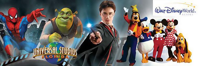 Universal Studios Orlando and Disney World