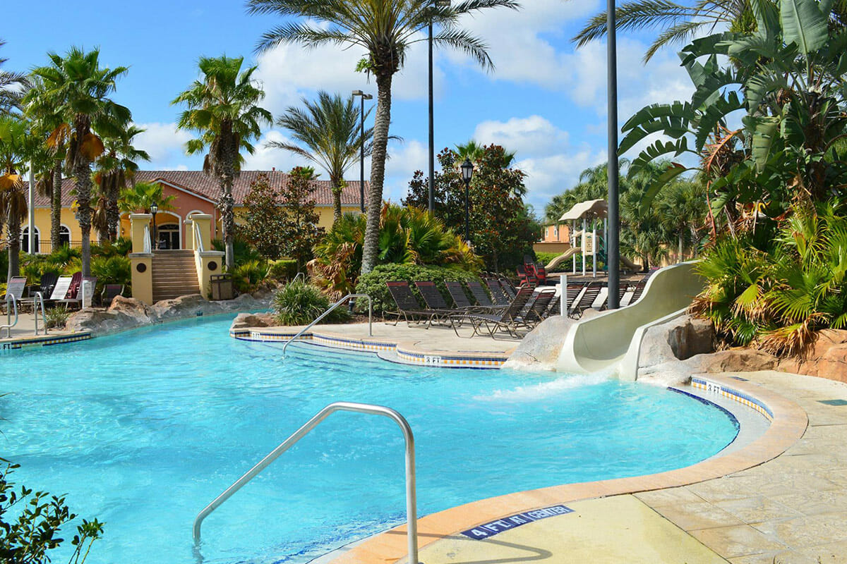 Regal Palm Resort Vacation Town Home Pool slider