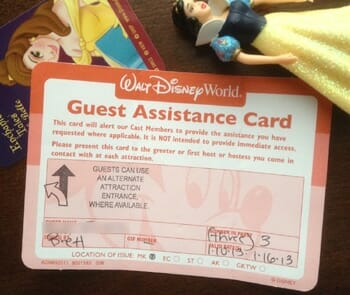 disney world guest assistance card