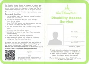 Disney Disability Access Pass - Orlando Vacation