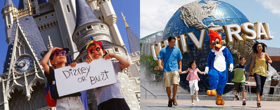 4 day Disney World & Universal Studios vacation package