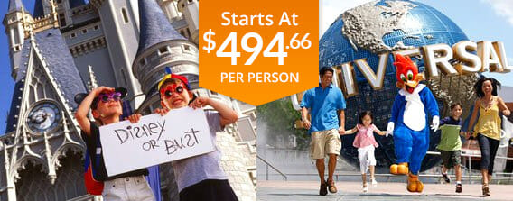 Four Day Universal & Disney World Package