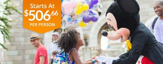 Four Day Walt Disney World Vacation Pack