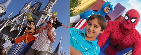 Universal Studios & Disney World 3 day Orlando Vacation Package