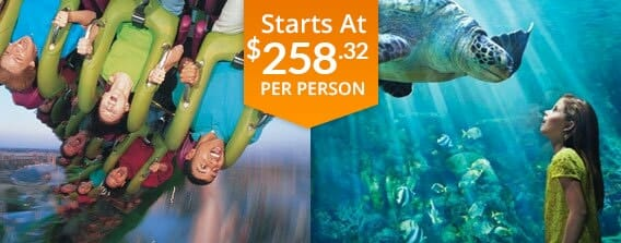 universal studios and seaworld 2 day vacation package