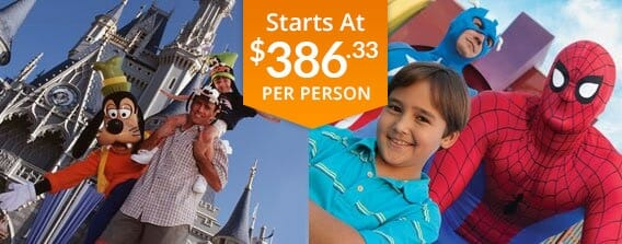 Three Day Universal and Disney World Package