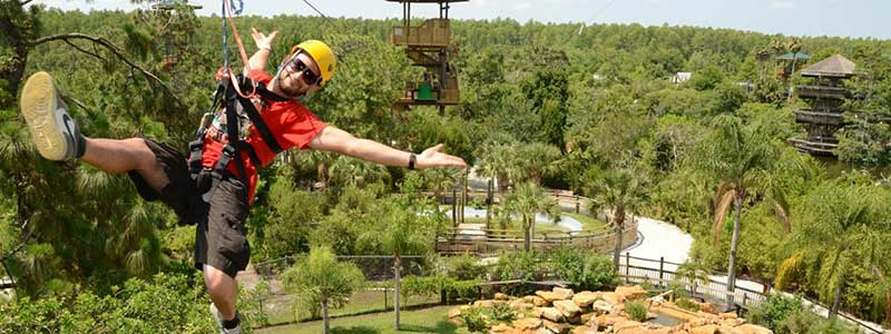 Gatorland Orlando zipline