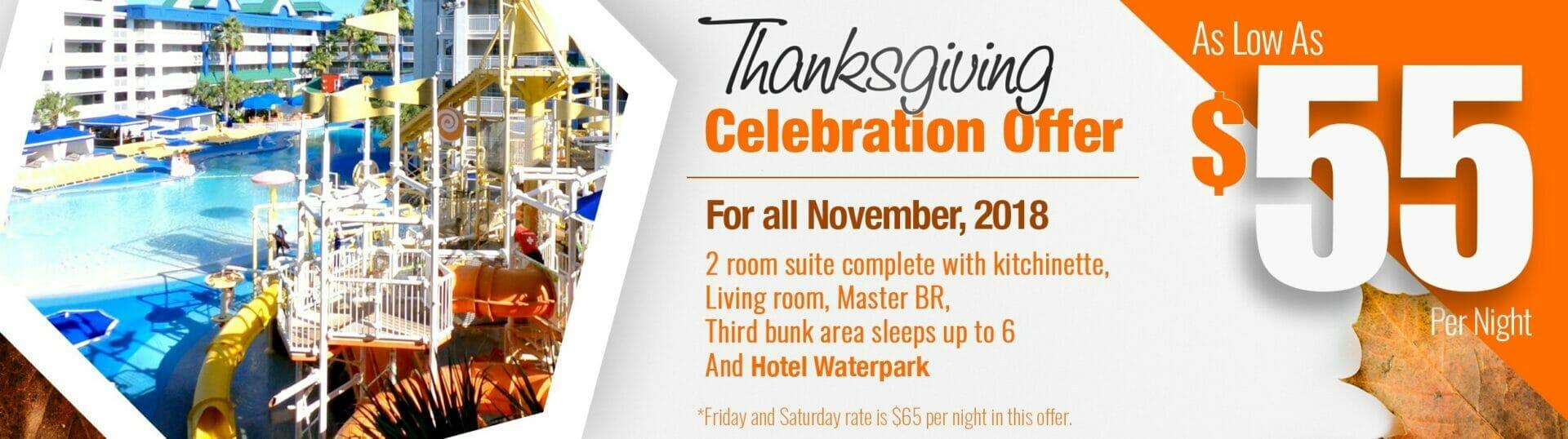 Thanksgiving HDI Waterpark Nov Promotion Slider