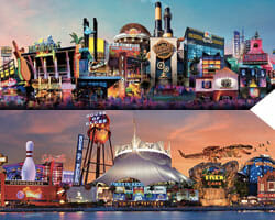 universal studios orlando and Disney Springs