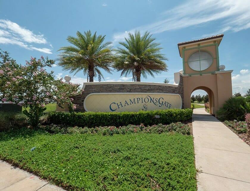 ChampionsGate Oasis Condos in Orlando Entrance - OrlandoVacation
