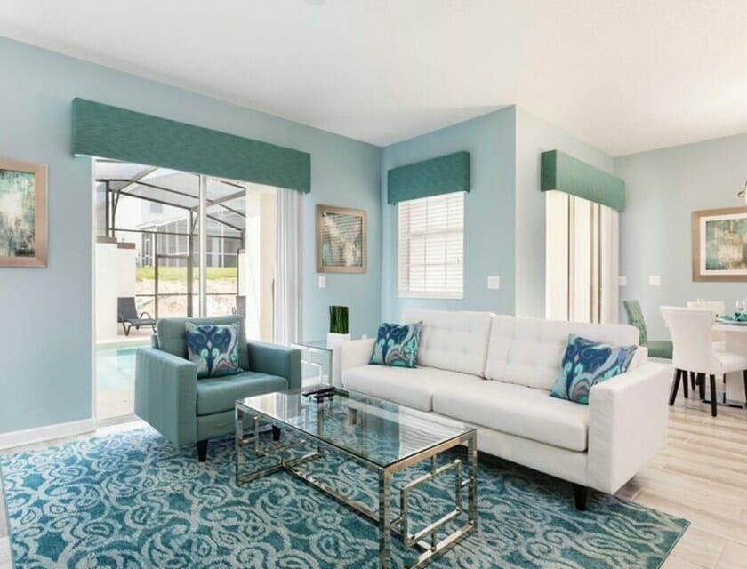 ChampionsGate Oasis Condos in Orlando TH Living Room 2 - OrlandoVacation