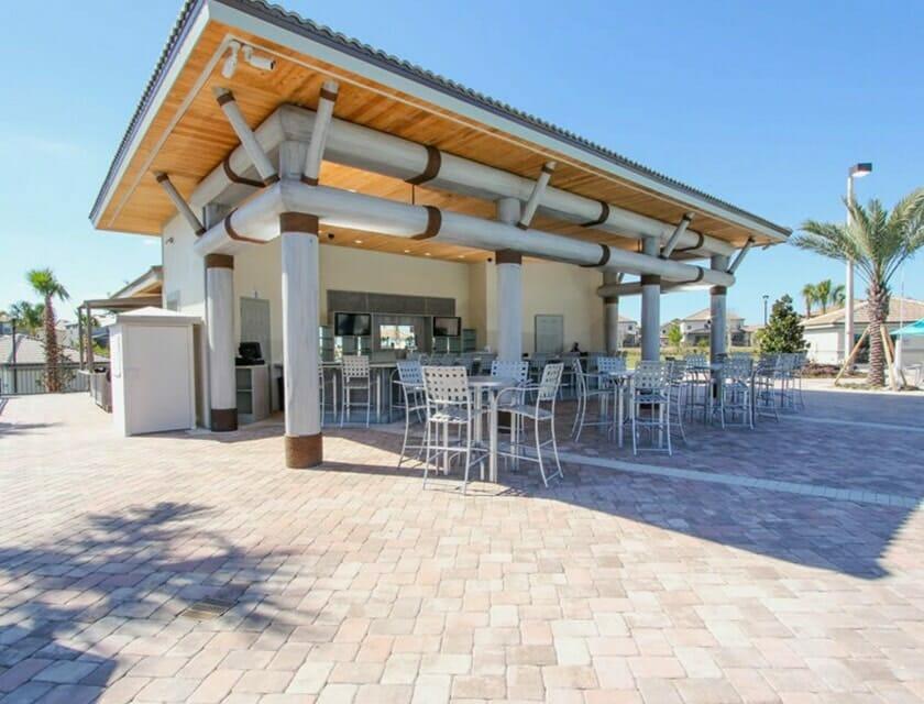 ChampionsGate Oasis Condos in Orlando Tiki Bar - OrlandoVacation