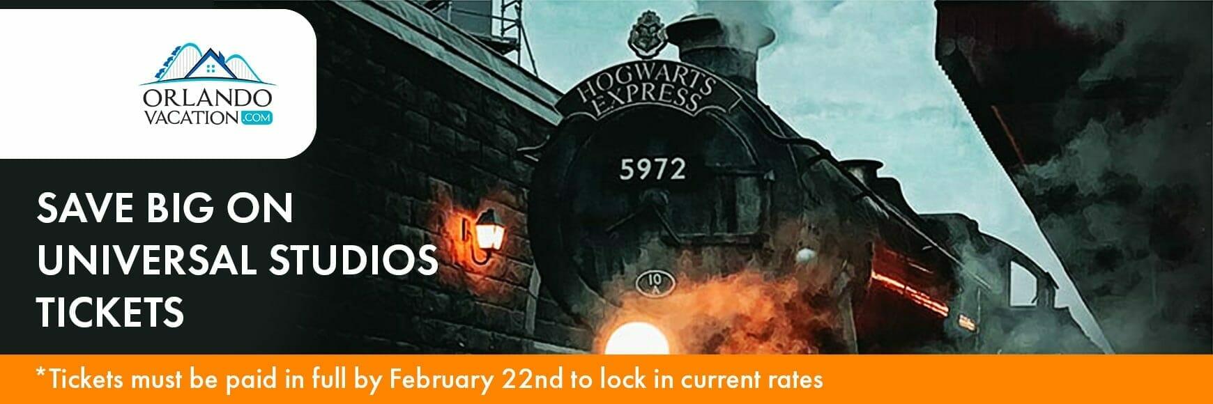 Universal Studios ticket promo