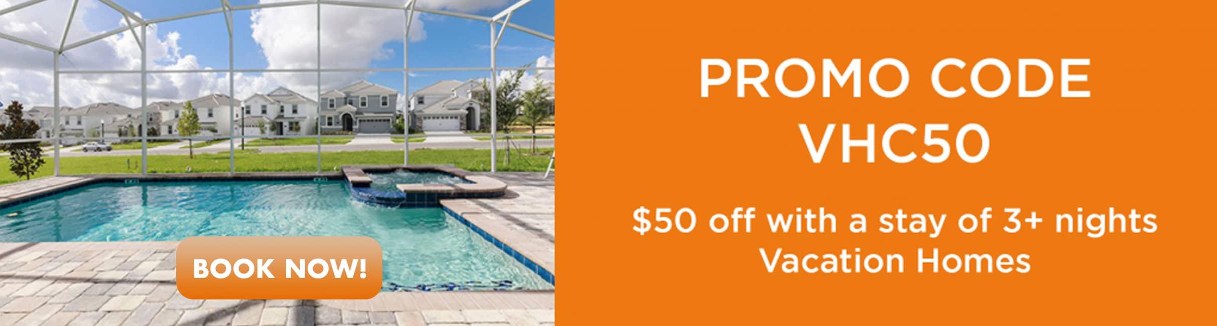 Promo Code 50% off Orlando Vacation Homes