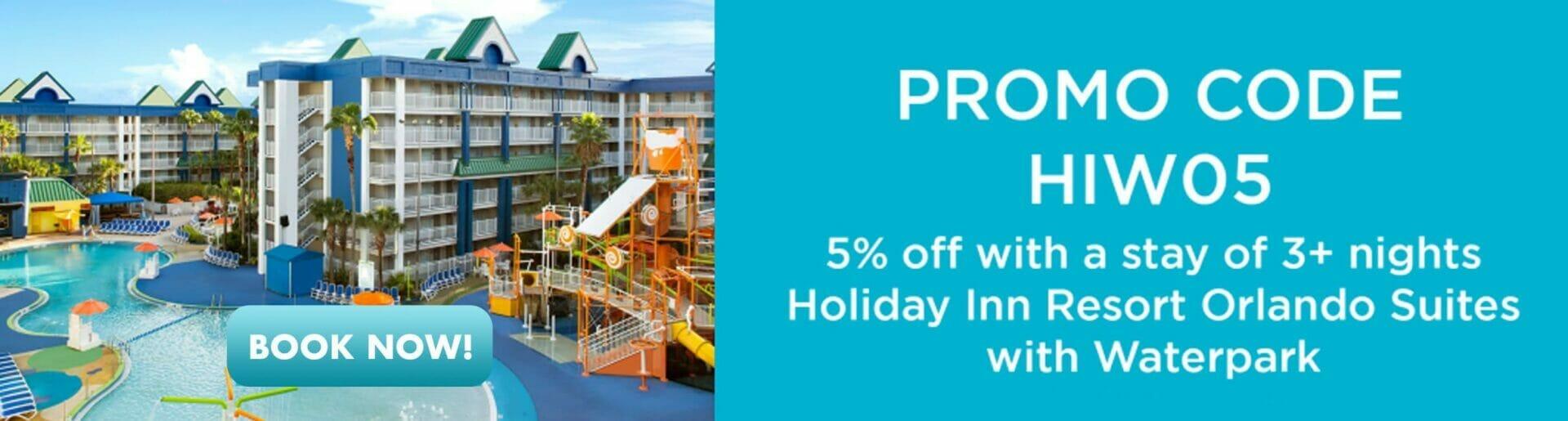 Promo Holiday Inn 5% off Orlando Vacation Discounts