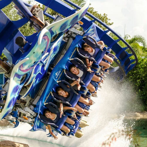 SeaWorld - Manta Ride splash